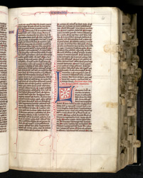 Beginning of the Book of Numbers, in a Bible with Duplex Psalter